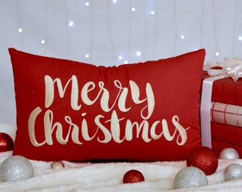 Merry Christmas Pillow 30% OFF Christmas Decorations, winter Decor, Cushion, gift All Sizes And Color