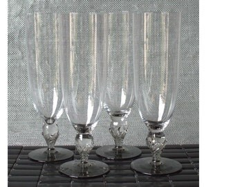 Four Mid-Century Campagne Flutes