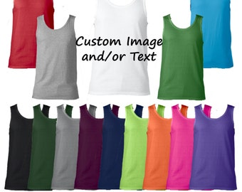 Custom Mens Tank Top/ Custom Tank / Customized Mens Tank Top / Design Your Own Tank Top / Custom Tank Top/Custom Adult Tank Top