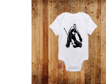 Hockey Goalie Baby Onesie - Hockey Baby Onesie