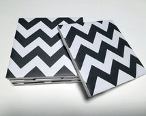 Chevron Drink Coasters - Black, Navy, Yellow, Red, Pink White Decor - Drink Coasters - Tile Coasters - Ceramic Coasters - Table Coasters