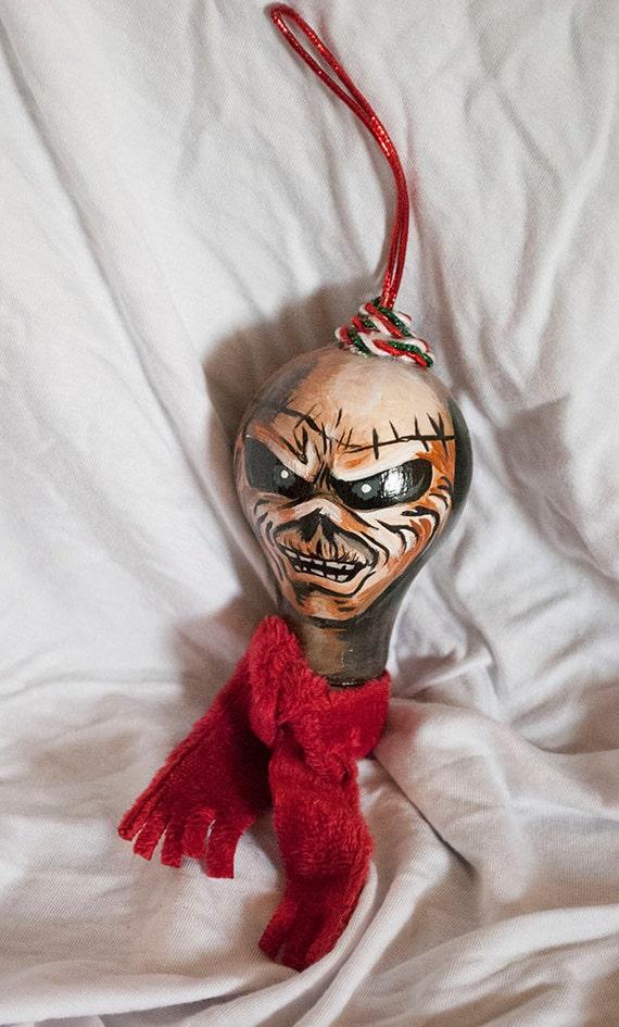iron maiden eddie lightbulb christmas ornament