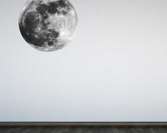 Moon Wall Decal Wall Sticker Universe Space Boys Kids Bedroom Educational
