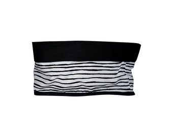 Fabric bucket, Black and White, Strips pattern, Full lined fabric bucket, Christmas gift , Nordic design, Housewarming gift