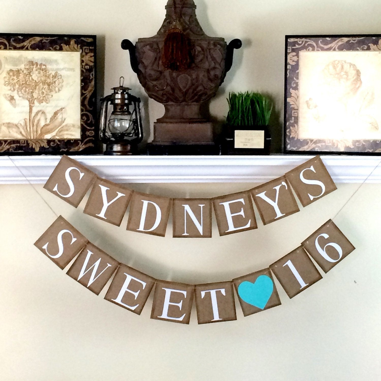 SWEET 16 BANNER / Personalized Birthday Banner / By