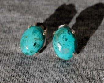 Schattuckite Studded Earrings