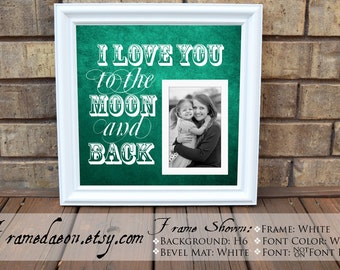 i love you to the moon and back custom picture frame personalized frame wooden frame square frame quote frame grandparent 15x15