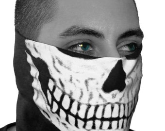 Glow in the Dark Skull Face Bandana by SFYNX Apparel (Free USA Shipping)