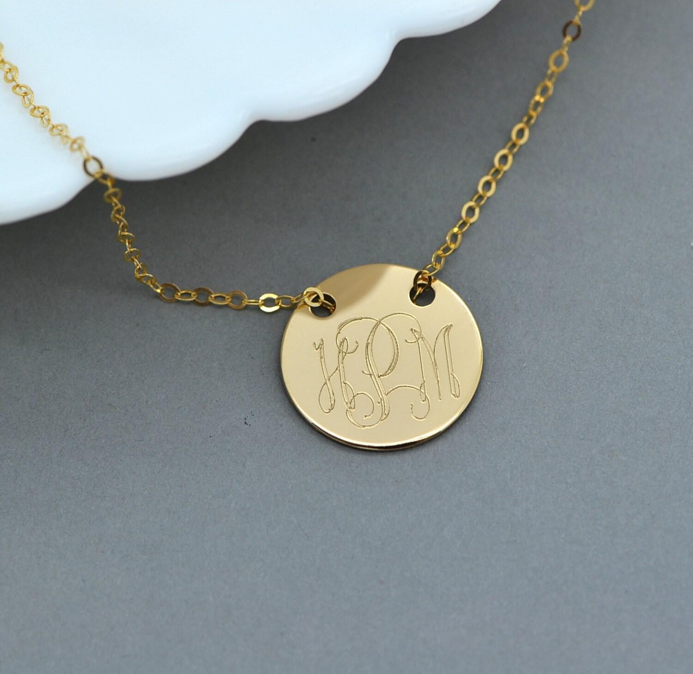 Gold Monogram Necklace Engraved Disc Necklace Personalized. Gummy Rings. Gold Design Earrings. Compass Medallion. Italian Chains. Genuine Sapphire. Miyuki Beads. Bangle Bracelet Jewelry. 18 Karat Gold Bracelet