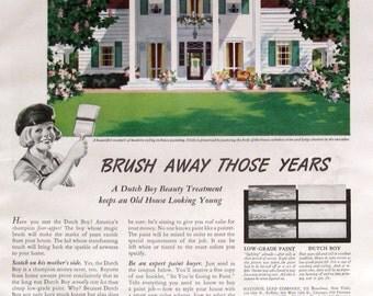 1940 dutch boy white lead paint exterior house paint brush away. Black Bedroom Furniture Sets. Home Design Ideas