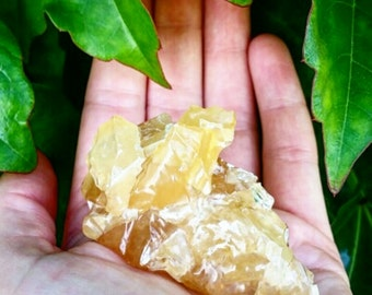 Honey citrine calcite