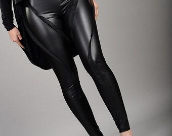 Leather Pants, Leather Leggings, Fetish Clothing, Sexy Pants, Biker Pants, High Waisted Leggings, Black Leggings, Stretch Pants