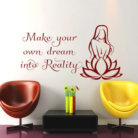 Wall decals make your own dream into reality decal by cozydecal Create your own dream home
