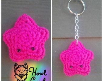 Hot Pink Amigurumi Star