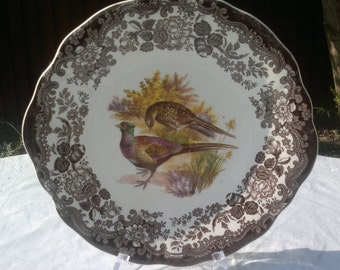 Vintage Royal Worcester Palissy Game Series Earred Cake Plate