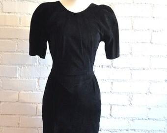 Vintage 80's Suede Dress