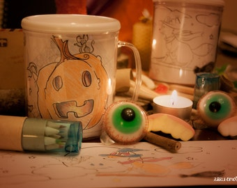 Customizable beaker for Halloween / Walpurguis / Samhain