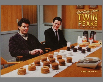 Twin Peaks Gold Box Postcard Card # 16 of 61 FBI Agent Dale Cooper & Harry S. Truman
