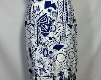 Cool Vintage 1980's Abstract Summer Skirt