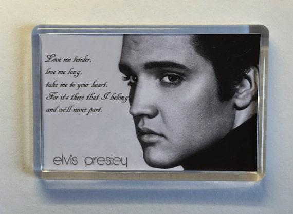 Elvis Presley Are You Lonesome Tonight - Love Me Tender - lyrics movie poster fridge magnet New