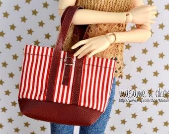 Stripped Tote Bag for Minifee, MSD and Slim Mini BJDs