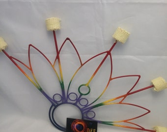 Pair of Peacock handmade Fire fans