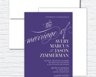 Avery, Clean, Simple, Chic, Elegant, Customizable Wedding Invitation Set