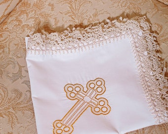 Christening blanket Embroidered baby blanket Personalized Baptism gift for godson for goddaughter for godchild baptism gift boy gift girl