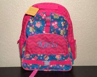 Stephen Joseph Large Girls Backpack Owl Theme School Book Bag