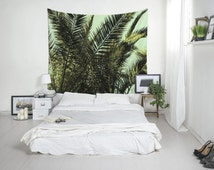 Tropical Tapestry, Palm Tree Art, Palm Leaf Tapestry, Tropical Wall Decor, Home Decoration