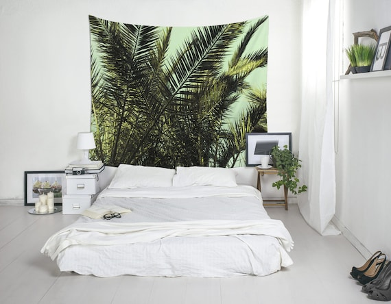 Tropical Tapestry Palm Tree Art Palm Leaf Tapestry Tropical Wall Decor Home