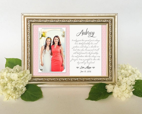 Best Friend Wedding Gift - Best Friend Thank You gift Wedding, Gift ...