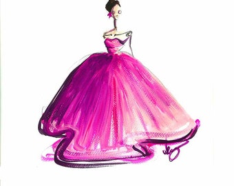 Pink fashion art, Pink fashion print, Fashion print, Pink wall art, Nursery art, Nursery wall art, Pink wall decor, Pink art print
