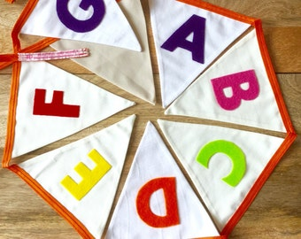 Handmade Alphabet Bunting with Felt Letters