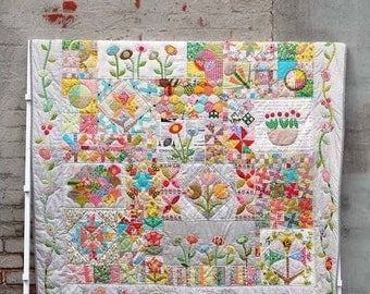 Jen Kingwell Designs Green Tea and Sweet Beans Applique Quilt Pattern