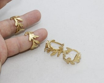 1 Pcs Raw Brass Flower Rings, 18mm Adjustable Ring, Brass Adjustable Ring , LA48