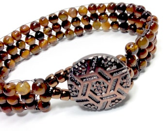 Tigers Eye Bracelet,Tigereye Bracelet,Tiger Eye Jewelry,Gemstone Bracelet,Brown Bracelet,Tiger Eye Gemstone,Handwoven,Holiday Gift,Hemp,Fall