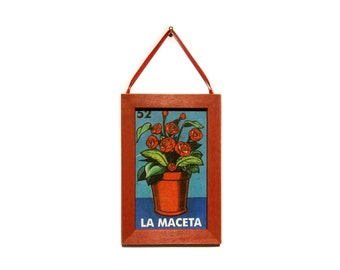 La Maceta Picture, Flowerpot Magnet, Loteria Card, Home Decor, Housewarming Gift, Thank You Gift, Gift For Him, Gift For Her, Fridge Magnet