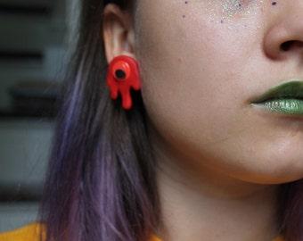Blood Drip Creature Earrings