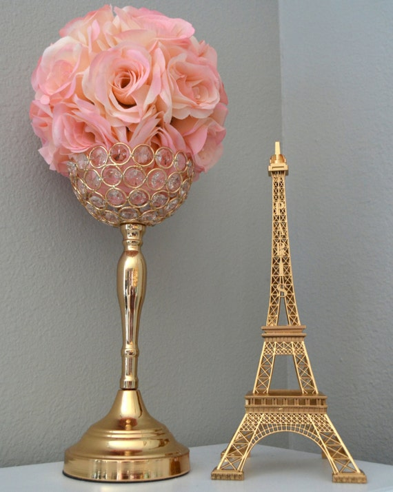 Gold eiffel tower centerpiece parisians theme decor paris like this item junglespirit Images