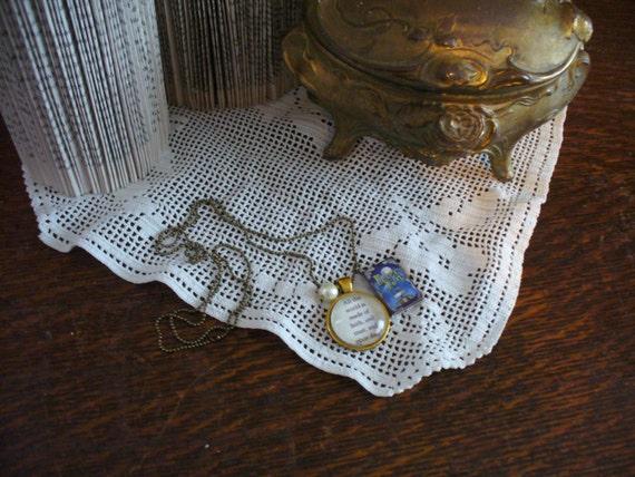 Book Nook Necklace, Quote Necklace, Peter Pan Necklace, Pixie Dust, Literature Necklace, Pendant Necklace, Book Necklace, MarjorieMae