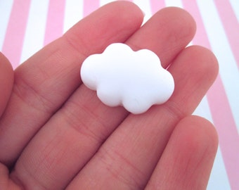 White Cloud Cabochons, Sweet Kawaii Cabs, #671A