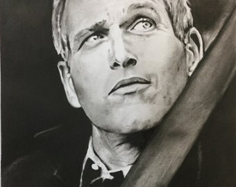 Paul Newman... portrait original signed