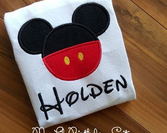 Mickey Vacation Birthday Shirt FREE Personalization