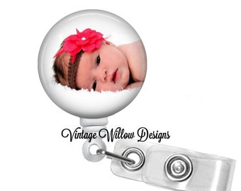 Your Photo on a Retractable ID Badge Reel