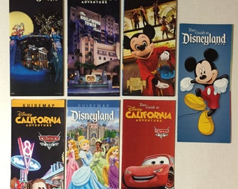 2013 Disneyland California Adventure park map lot of 7 maps