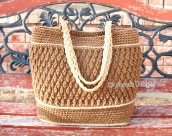 Crochet Pattern 176 Diamond Tote Crochet Tote Bag Pattern Crochet Purse Shoulder Bag  Woman Bag Shopping Bag Summer Beach Bag Christmas Gift