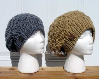 Knitting Pattern 157 - Hat Knitting Pattern - Knitting Hat Pattern Doris Slouchy Hat Slouchy Beanie Teen Adult Ladies Hat Women Winter Hat
