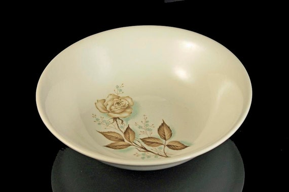 Mount Clemens, Serving Bowl, Brown Rose, Hard to Find Pattern