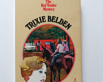 Vintage Trixie Belden No. 2 The Red Trailer Mystery 1977